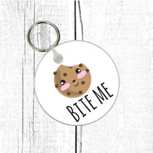 bite me keyring by Beautifully Obscene