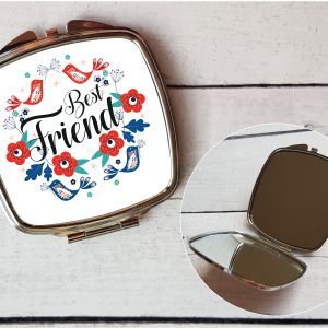 best friend compact mirror by Beautifully Obscene