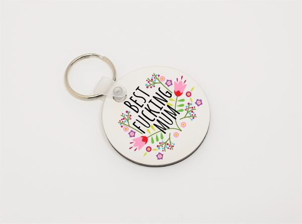 best fucking mum keyring by Beautifully Obscene