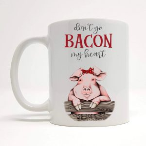 bacon my heart mug by Beautifully Obscene