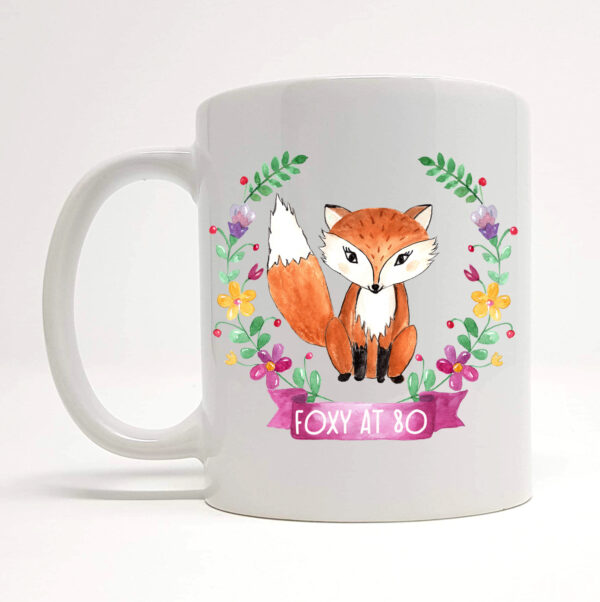 foxy at 80 mug by Beautifully Obscene
