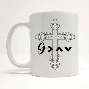 god is greater mug by Beautifully Obscene